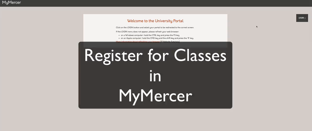 MyMercer Registration